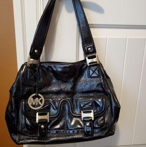 Michael Kors black patent leather purse